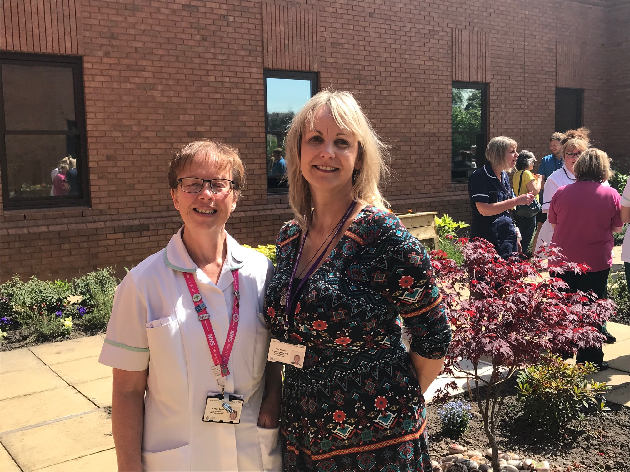 Occupational Therapy assistant Aileen Dunn with Julie Howson, from Warrington Wired