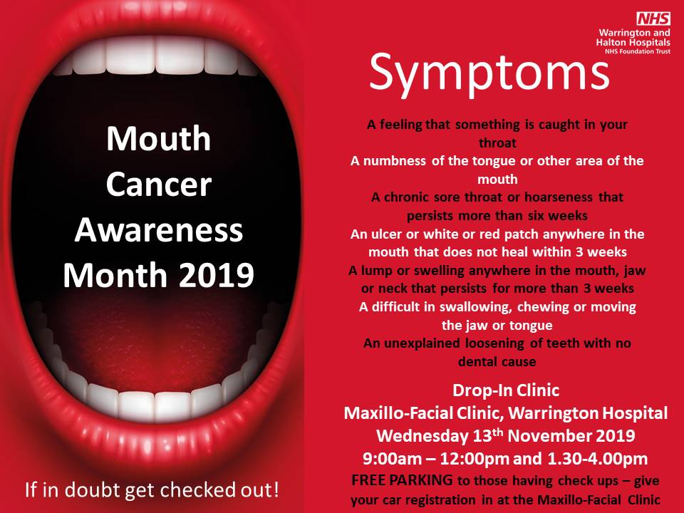 November is Mouth Cancer Action Month: If in doubt get it checked